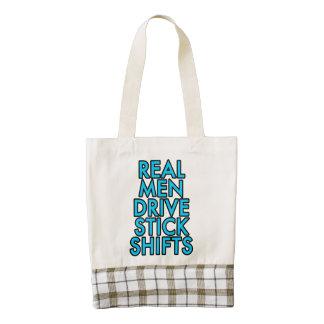 Real men drive stick shifts zazzle HEART tote bag