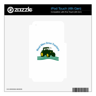 REAL MEN DRIVE TRACTORS SKIN FOR iPod TOUCH 4G