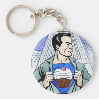 Real Men Eat Cupcakes Basic Round Button Keychain