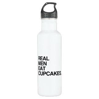 REAL MEN EAT CUPCAKES 24OZ WATER BOTTLE