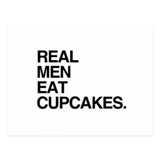 REAL MEN EAT CUPCAKES POSTCARD