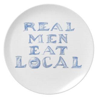 Real Men Eat Local Plate