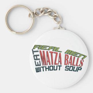 Real Men Eat Matza Balls - Jewish Humor Basic Round Button Keychain