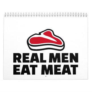 Real men eat meat calendar