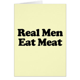 Real Men Eat Meat Stationery Note Card