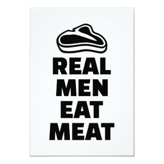 Real men eat meat 3.5x5 paper invitation card