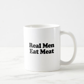 Real Men Eat Meat .png Classic White Coffee Mug