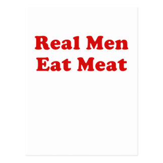 Real Men Eat Meat Postcard