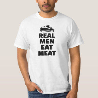 Real men eat meat t shirt