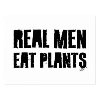 Real Men Eat Plants Postcard