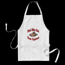 Real Men Eat Raw Oysters aprons