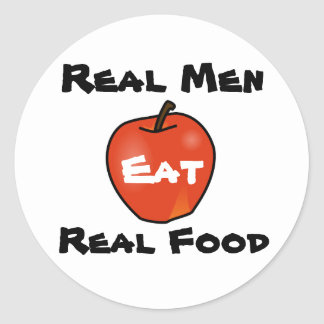 Real Men Eat Real Food Classic Round Sticker