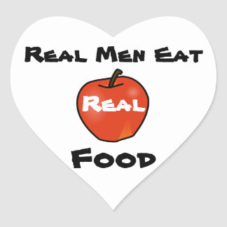Real Men Eat Real Food Heart Sticker
