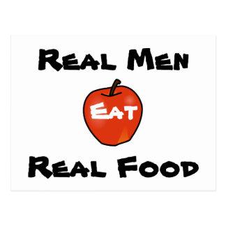 Real Men Eat Real Food Postcard