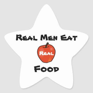 Real Men Eat Real Food Star Sticker