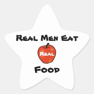 Real Men Eat Real Food Star Sticker
