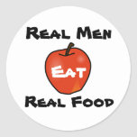Real Men Eat Real Food Sticker