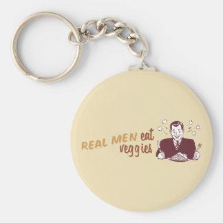 Real Men Eat Veggies Basic Round Button Keychain