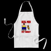 Real Men Fry Turkey aprons
