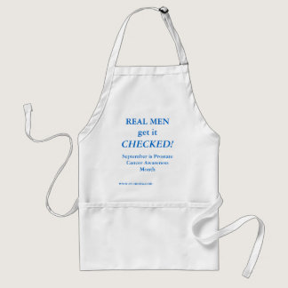 REAL MEN get it CHECKED! September Adult Apron