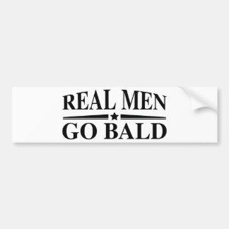 Real Men Go Bald Bumper Sticker