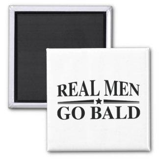Real Men Go Bald Magnet
