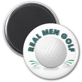 Real men golf magnet