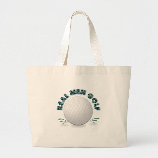 Real men golf tote bag