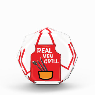 Real Men Grill Acrylic Award