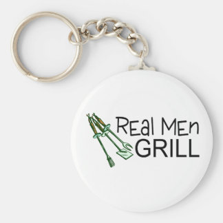 Real Men Grill Keychains