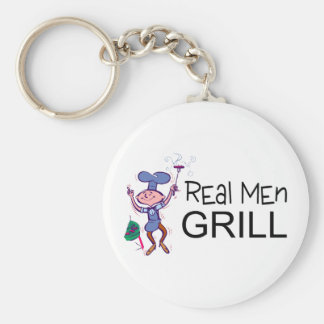 Real Men Grill Keychain