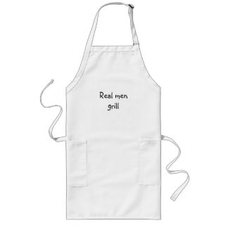 Real men grill long apron