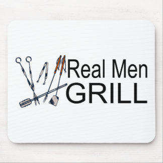Real Men Grill Mouse Pad