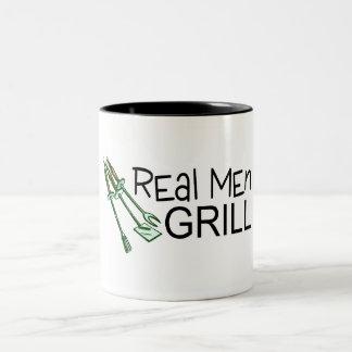 Real Men Grill Two-Tone Coffee Mug