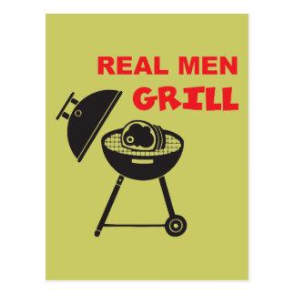 Real Men Grill Postcard