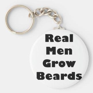 Real Men Grow Beards Keychains