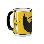 REAL MEN HAVE BEARDS RINGER COFFEE MUG