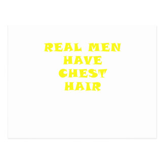 Real Men Have Chest Hair Postcard