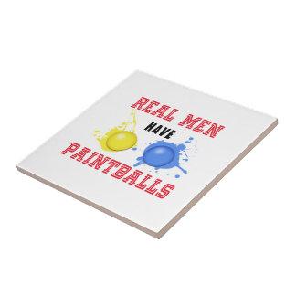 Real Men Have Paintballs Ceramic Tiles