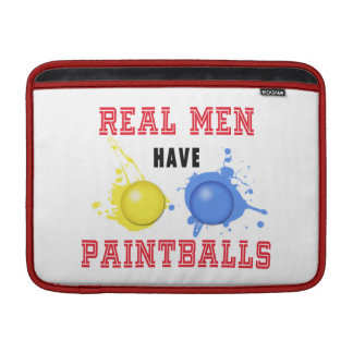 Real Men Have Paintballs Sleeve For MacBook Air
