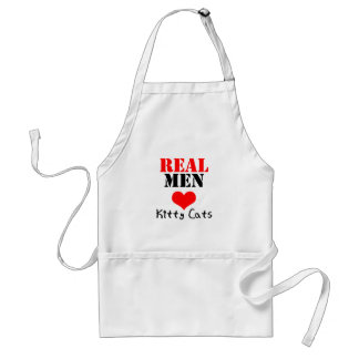 Real Men Heart (Love) Kitty Cats Adult Apron