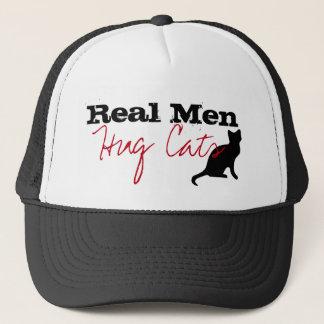 Real Men Hug Cats Kitty Love Funny Trucker Hat