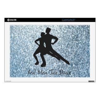 """Real Men Ice Dance 17"""" Laptop Skin"""