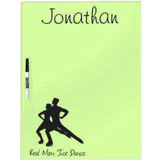 Real Men Ice Dance Dry-Erase Board
