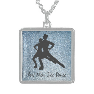 Real Men Ice Dance Sterling Silver Necklace