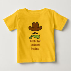 Baby Fine Jersey T-Shirt with Iconic Cowboy Moustache design