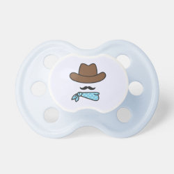 BooginHead® Custom Pacifier (6+ Months) with Iconic Cowboy Moustache design