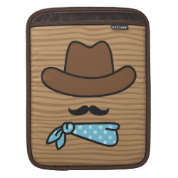 Iconic Cowboy Moustache iPad Sleeve