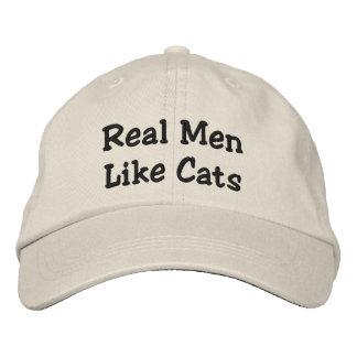 Real Men Like Cats Baseball Cap