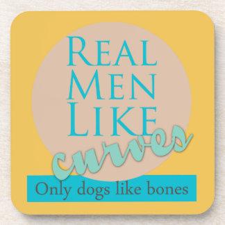Real Men Like Curves Beverage Coaster